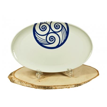 Bandeja para Servir porcelana Gallega Lúa Coupe 39cm
