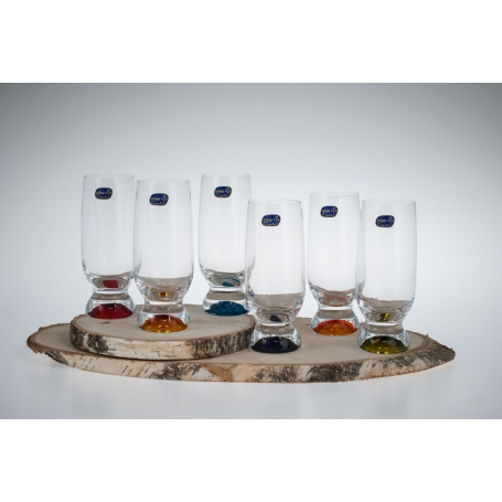 copy of Bohemian Gina refreshment set. Six glasses and pitcher.