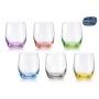Juego de 6 vasos de licor cristal Rainbow Bohemia. cristalsio.com