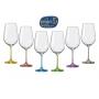 Juego de copas de vino Bohemia color. cristalsio.com