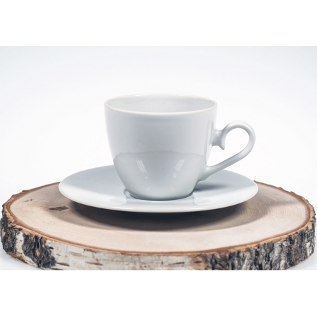 pocillo y plato café volare blanco