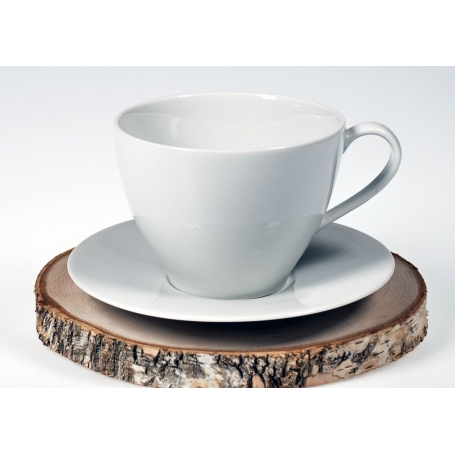 taza desayuno volare con plato blanco