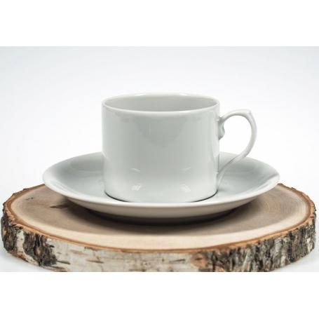 taza té Pombal blanca con plato