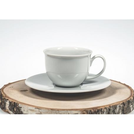 pocillo café Moments con plato blanco